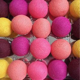 Leuchtkugeln (gelb-lavendel-pink)