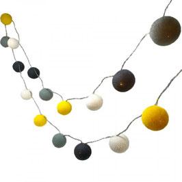 Leuchtkugeln (gelb-weiss-grau)