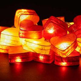 Herzkette (rot-gelb)