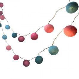 Leuchtkugeln (türkis-pink)