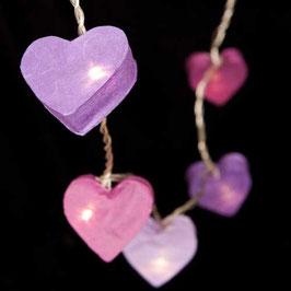 Herzkette (Lavendel)