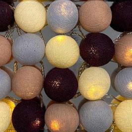 Leuchtkugeln (braun-grau-violett)