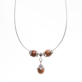 Silver necklace - Blossoms set