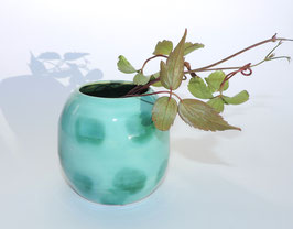 Blumenvase, türkis - flaschengrün