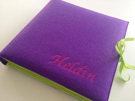 Fotoalbum Filzeinband  lila/hellgrün