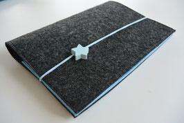 U-Hefthülle Nr.5 - dunkelgrau/hellblau + Impfpassfach