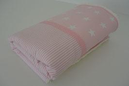 Babydecke rosa/weiß
