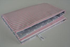 Wickelunterlage rosa/grau