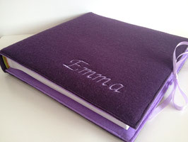 Fotoalbum Filzeinband lila/flieder