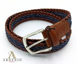 Cintura treccia Marrone/blu