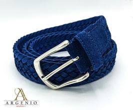 Cintura treccia Blu