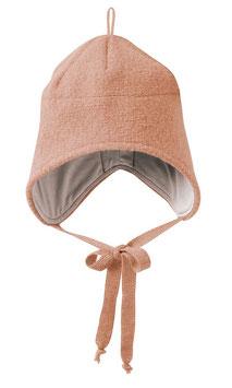 wollwalk mütze in rosé von disana