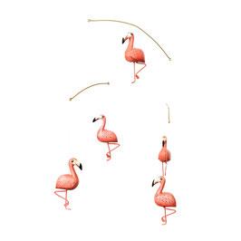 """mobile """"flamingo"""" aus holz von geggamoja"""