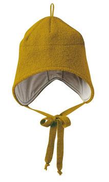 wollwalk mütze in gold von disana