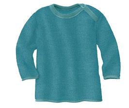 strick pullover melange in lagoon/azur von disana