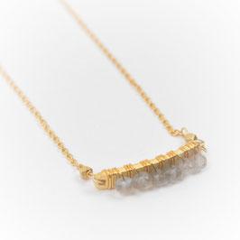 Kette °Twist° - Gold und Halbedelsteine