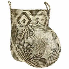 Wäschekorb °Arusha° aus Seegras mit Tragegriffen - 2 Größen