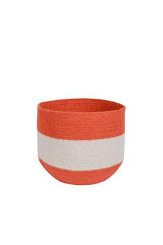 Korb °Coral° - Crème & Koralle - 2 Größen