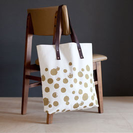 Oversize Bag °Dots° - Weiss-Gold