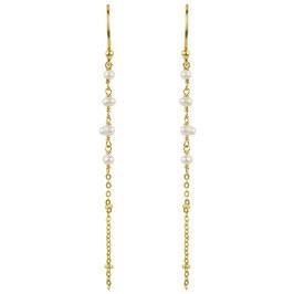 Ohrhänger °Aloha° - vergoldetes Silber & Süßwasserperlen