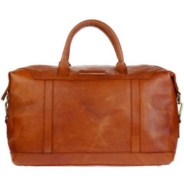 Reisetasche / Weekender °Paris° aus Leder - Farbe Cognac