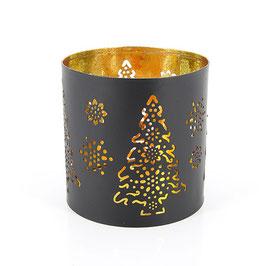Kerzenhalter °Christmas Tree° - Schwarz / Gold
