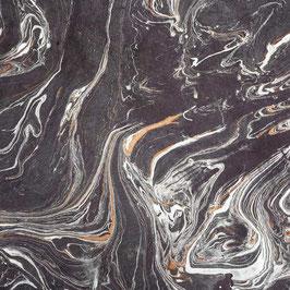 Geschenkpapier °Marmor° - Anthrazit / Aubergine / Metallic