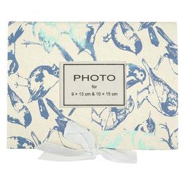 Minialbum: Fotoalbum °Birds° - Blau-Töne & Sand