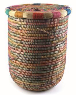 NEU: Runder Wäschekorb °Sesame° mit Deckel + Baumwollbeutel