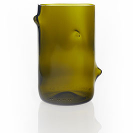 Design-Vase aus Upcycling - Olive