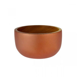 Edle Holzsschale °Copper° in Trendfarbe Kupfer