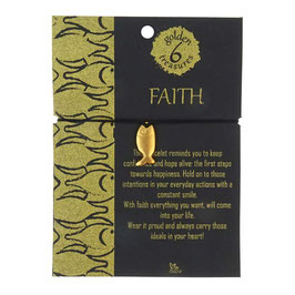 Message-Armband °Faith° (Das Vertrauen) - 24 kt vergoldet