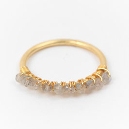 Perlenring °Twist° Gold & Labradorit