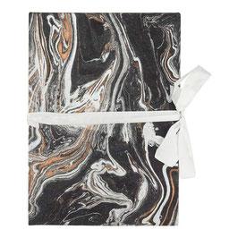 Leporello für Photos °Marble° - Schwarz, Silber, Kupfer