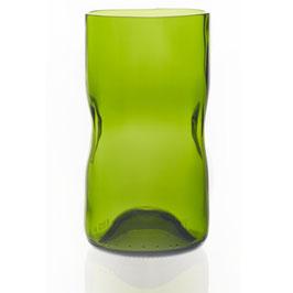 4/6 x Wasserglas aus Upcycling im Set - Olive