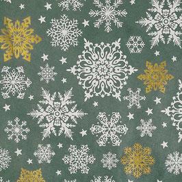 Geschenkpapier °Stars° - Graublau, Gold und Weiß
