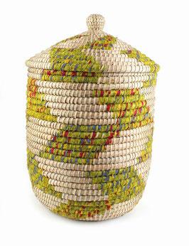 NEU: Wäschekorb °Boa° - Grün mit Baumwollbeutel