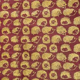 Geschenkpapier °Hoglet° - Weinrot & Gold