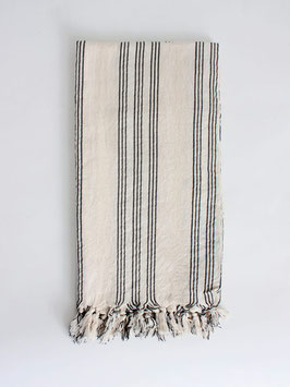 Hammam Tuch °Stripes° - 180 x 90 cm  - mit Leinen
