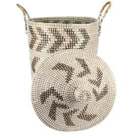 NEU: Wäschekorb °Forward° aus Seegras mit Tragegriffen - 2 Größen