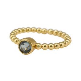 Ring °Pearls° - Sterlingsilber vergoldet mit Kristall