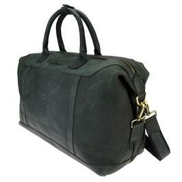 Reisetasche / Weekender °London° aus Leder - Schwarz