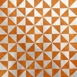 Geschenkpapier °Mosaik° - Orange / Silber