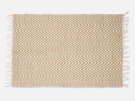 NEU: Teppich °Beach° - Creme & Sand, 90x60 cm, handgewebt