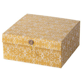Box / Schachtel °Himalaja° - Goldgelb mit Ranken