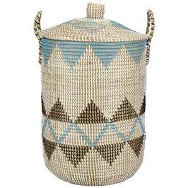 Wäschekorb °Kifaru° aus Seegras mit Tragegriffen - 2 Größen