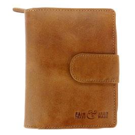 Börse / Portemonnaie °fair&hand° aus Leder - Vintage Camel