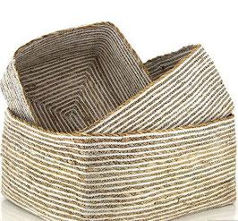 Feiner Schrankkorb aus Hogla und Baumwolle - in 6 Größen