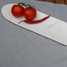 Lange Schale aus weißem Marmor