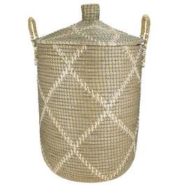 Wäschekorb °Tribes° aus Seegras mit Tragegriffen - 2 Größen